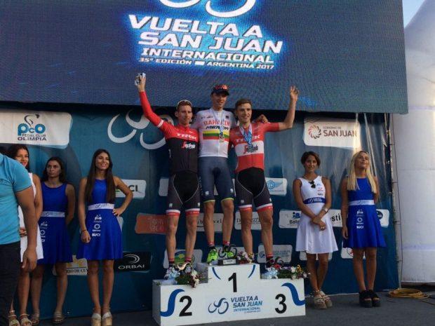 Podio de la 3ª etapa del Tour de San Juan