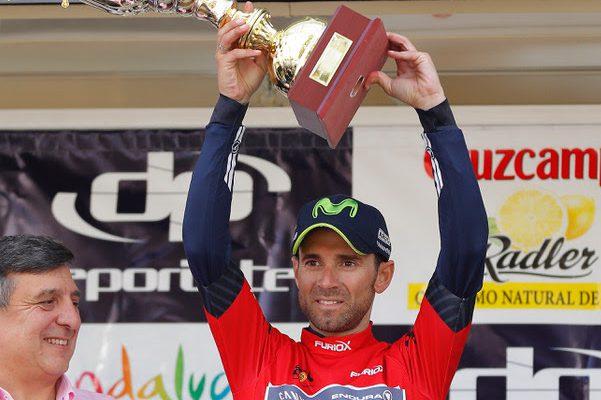 Valverde en el podio de la Vuelta a Andalucía