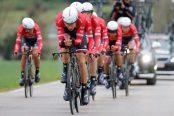 Trek - Segafredo en la crono por equipos de la Volta a Catalunya