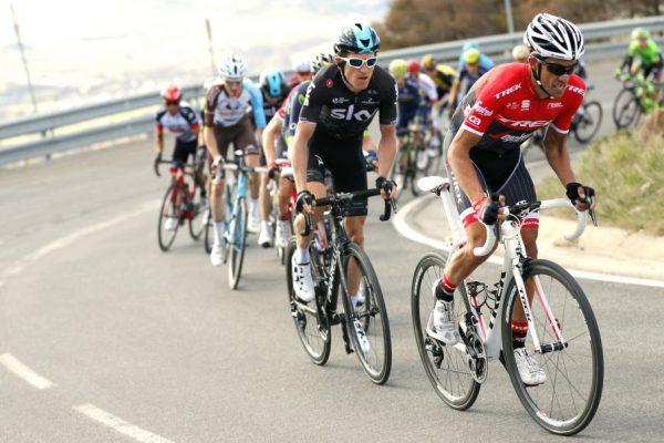 Contador en la subida a La Molina
